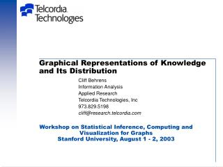 Graphical Representations of Knowledge and Its Distribution