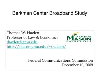 Berkman Center Broadband Study