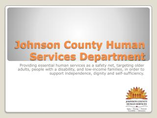 Johnson County Human Services Department