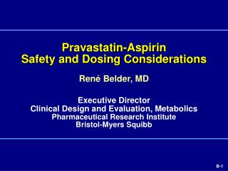 Pravastatin-Aspirin Safety and Dosing Considerations
