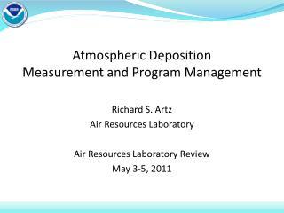 Atmospheric Deposition Measurement and Program Management