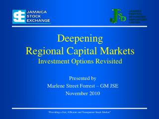 Deepening Regional Capital Markets Investment Options Revisited
