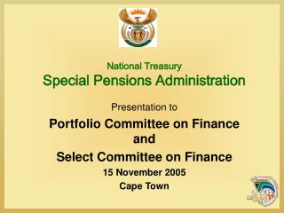 National Treasury Special Pensions Administration