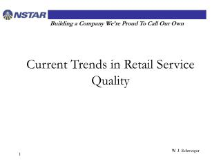 Current Trends in Retail Service Quality