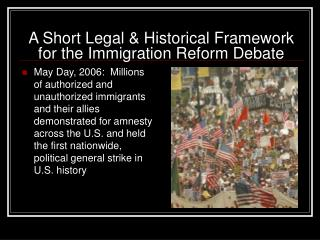 A Short Legal & Historical Framework for the Immigration Reform Debate