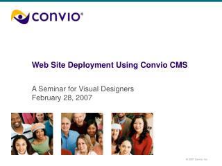 Web Site Deployment Using Convio CMS