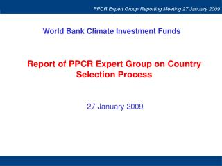 World Bank Climate Investment Funds