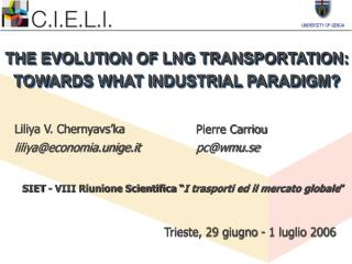 THE EVOLUTION OF LNG TRANSPORTATION: TOWARDS WHAT INDUSTRIAL PARADIGM?