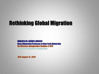Rethinking Global Migration