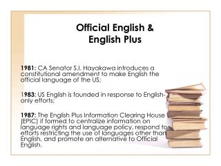 Official English & English Plus