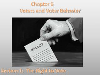Chapter 6 Voters and Voter Behavior Section 1:  The Right to Vote