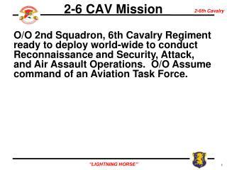 2-6 CAV Mission