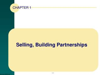 Selling, Building Partnerships