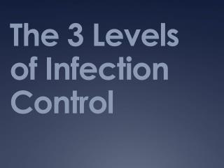 The 3 Levels of Infection Control
