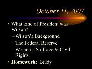 October 11, 2007