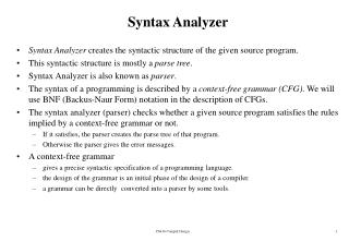 Syntax Analyzer