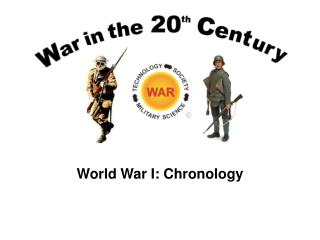 World War I: Chronology