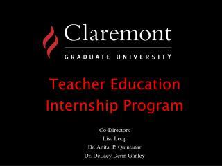 Teacher Education  Internship Program
