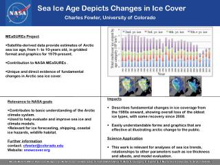 Sea Ice Age Depicts Changes in Ice Cover