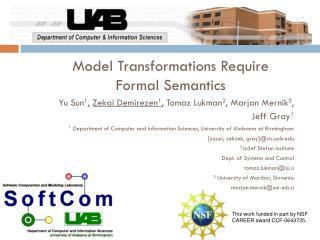 Model Transformations Require Formal Semantics