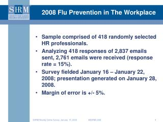 2008 Flu Prevention in The Workplace