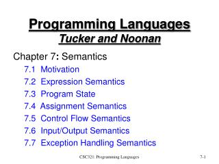 Programming Languages Tucker and Noonan