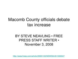 Macomb County officials debate tax increase