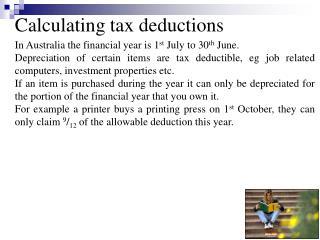 Calculating tax deductions