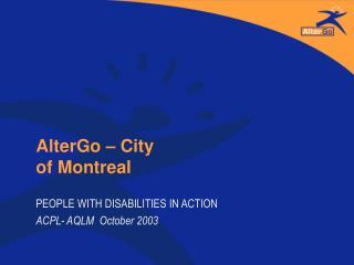 AlterGo � City of Montreal
