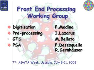 Front End Processing  Working Group