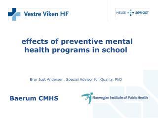 effects of preventive mental health programs in school