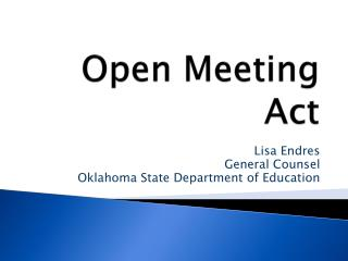 Open Meeting Act