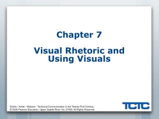 Chapter 7 Visual Rhetoric and Using Visuals