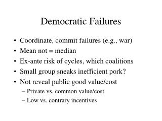 Democratic Failures