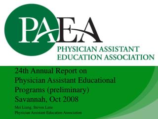 Mei Liang, Steven Lane Physician Assistant Education Association