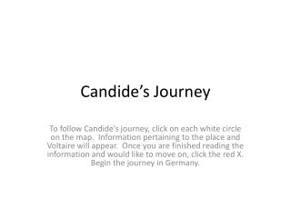 Candide�s Journey