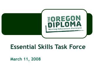 Essential Skills Task Force