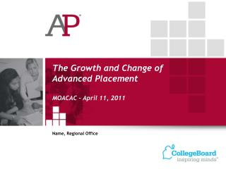 The Growth and Change of Advanced Placement MOACAC – April 11, 2011