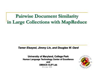 Pairwise Document Similarity  in Large Collections with MapReduce