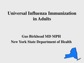 Universal Influenza Immunization in Adults