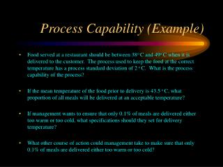 Process Capability (Example)