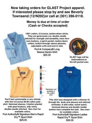 Port Authority® Signature Ladies Rapid Dry™ Sport Shirt                           $28.00