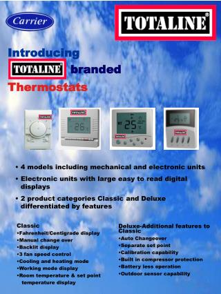 4 models including mechanical and electronic units  Electronic units with large easy to read digital displays