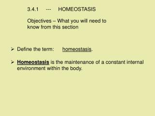 3.4.1     ---     HOMEOSTASIS