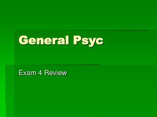 General Psyc