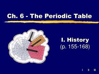 I. History (p. 155-168)