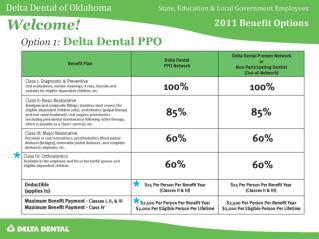 Option 1:  Delta Dental PPO