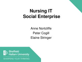 Nursing IT  Social Enterprise