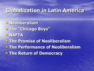 Globalization in Latin America