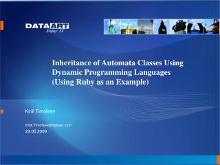 Inheritance of Automata Classes Using Dynamic Programming Languages (Using Ruby as an Example)